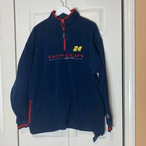 NASCAR Jeff Gordon Navy Fleece 1/4 Zip Pullover